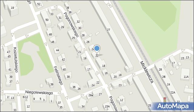 Warszawa, Pogonowskiego Stefana, 22, mapa Warszawy