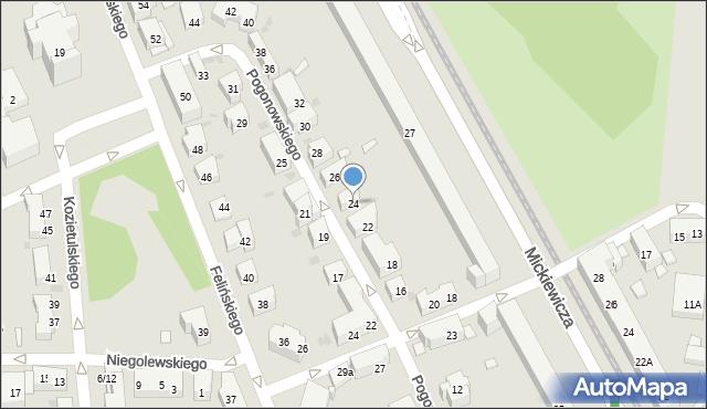 Warszawa, Pogonowskiego Stefana, 24, mapa Warszawy