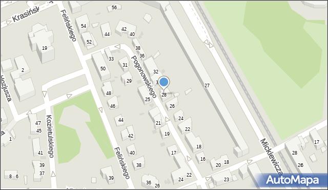 Warszawa, Pogonowskiego Stefana, 28, mapa Warszawy