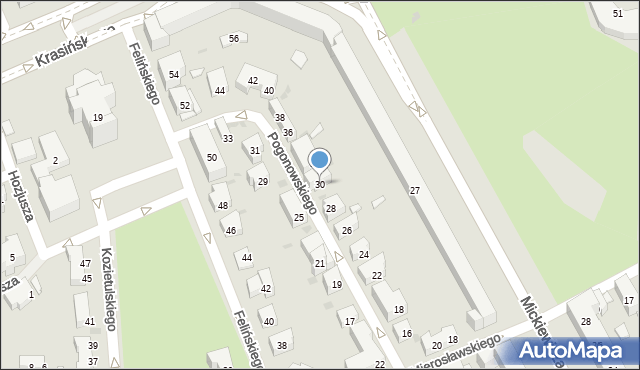 Warszawa, Pogonowskiego Stefana, 30, mapa Warszawy