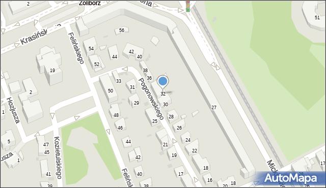 Warszawa, Pogonowskiego Stefana, 32, mapa Warszawy