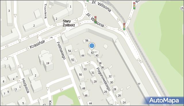 Warszawa, Pogonowskiego Stefana, 42, mapa Warszawy