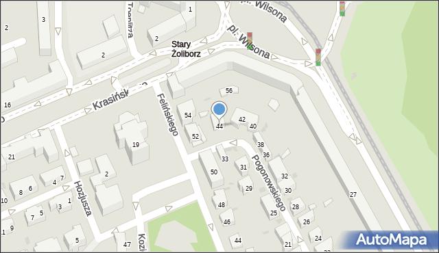 Warszawa, Pogonowskiego Stefana, 44, mapa Warszawy