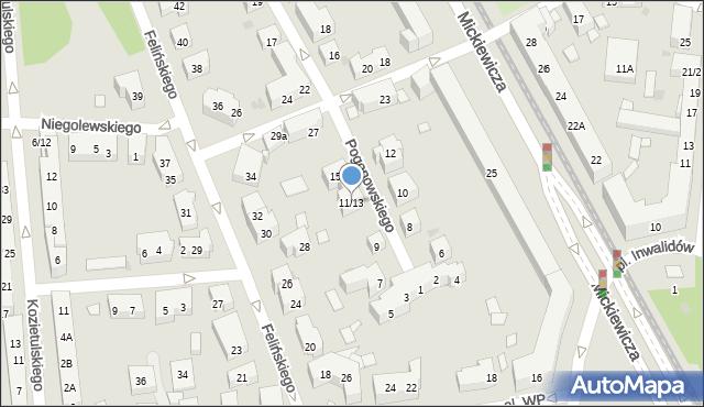 Warszawa, Pogonowskiego Stefana, 11/13, mapa Warszawy
