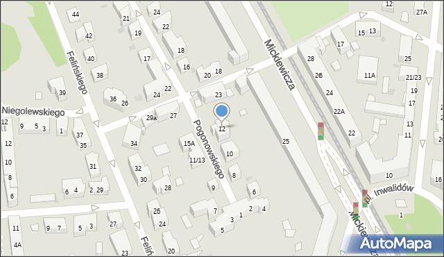 Warszawa, Pogonowskiego Stefana, 12, mapa Warszawy