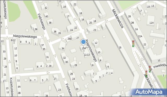 Warszawa, Pogonowskiego Stefana, 15A, mapa Warszawy