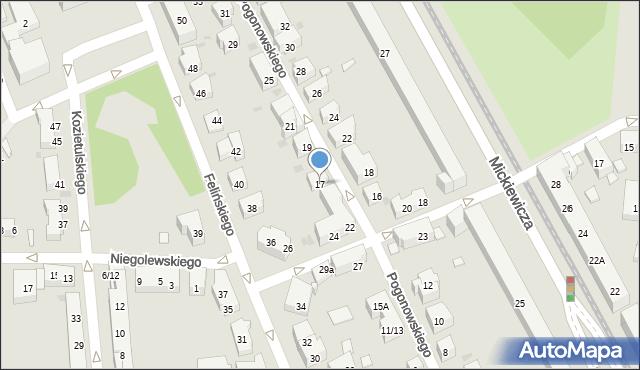 Warszawa, Pogonowskiego Stefana, 17, mapa Warszawy