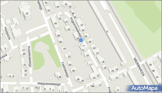 Warszawa, Pogonowskiego Stefana, 23, mapa Warszawy