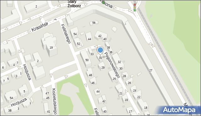 Warszawa, Pogonowskiego Stefana, 31, mapa Warszawy