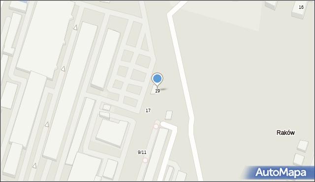 Warszawa, Porcelanowa, 19, mapa Warszawy
