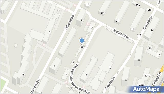 Warszawa, Powstańców Wielkopolskich, 11, mapa Warszawy