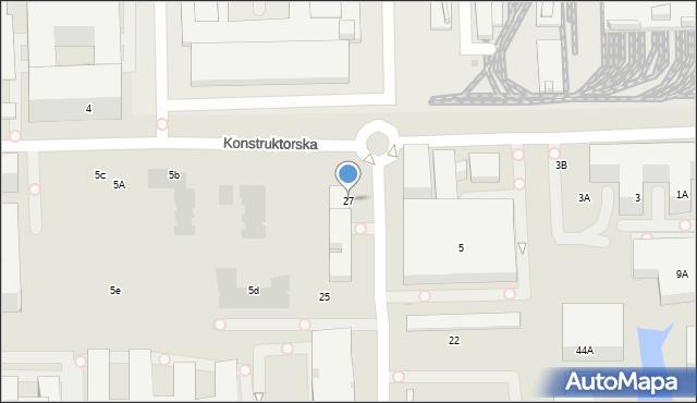 Warszawa, Postępu, 156, mapa Warszawy