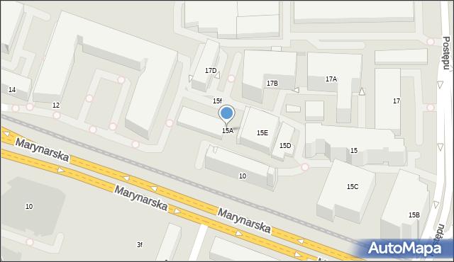 Warszawa, Postępu, 15A, mapa Warszawy