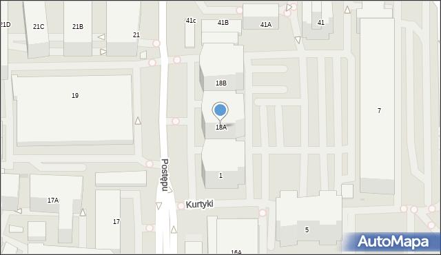 Warszawa, Postępu, 18A, mapa Warszawy