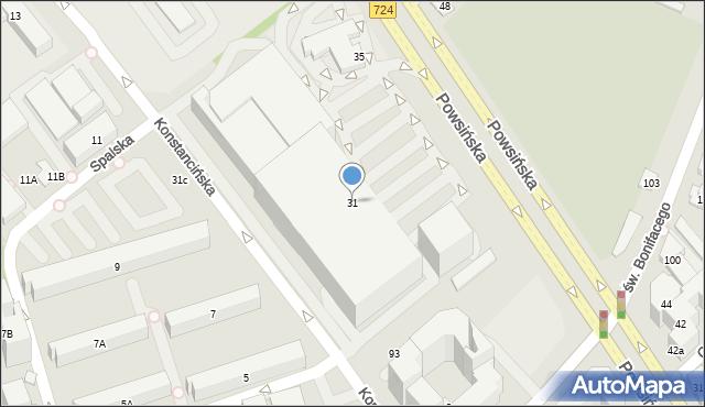 Warszawa, Powsińska, 31, mapa Warszawy