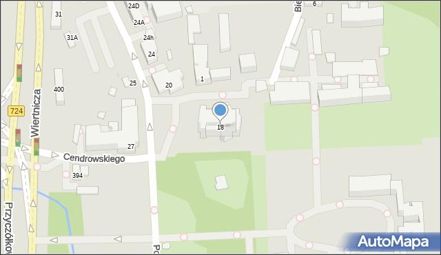 Warszawa, Potockiego Stanisława Kostki, 18, mapa Warszawy