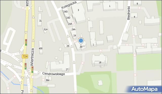 Warszawa, Potockiego Stanisława Kostki, 20, mapa Warszawy