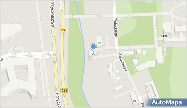 Warszawa, Potockiego Stanisława Kostki, 21, mapa Warszawy