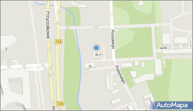 Warszawa, Potockiego Stanisława Kostki, 23, mapa Warszawy