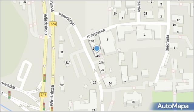 Warszawa, Potockiego Stanisława Kostki, 24A, mapa Warszawy