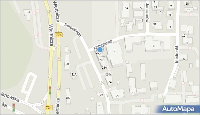 Warszawa, Potockiego Stanisława Kostki, 24E, mapa Warszawy