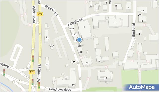 Warszawa, Potockiego Stanisława Kostki, 24h, mapa Warszawy