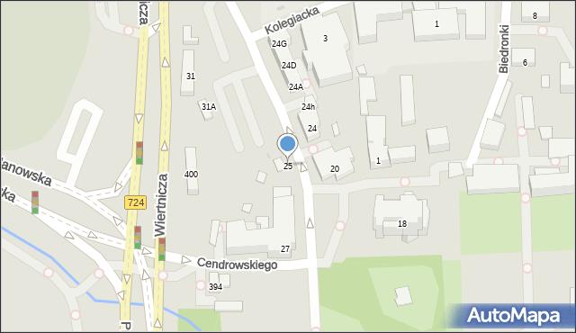 Warszawa, Potockiego Stanisława Kostki, 25, mapa Warszawy