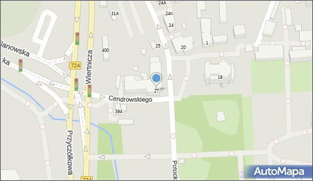 Warszawa, Potockiego Stanisława Kostki, 27, mapa Warszawy
