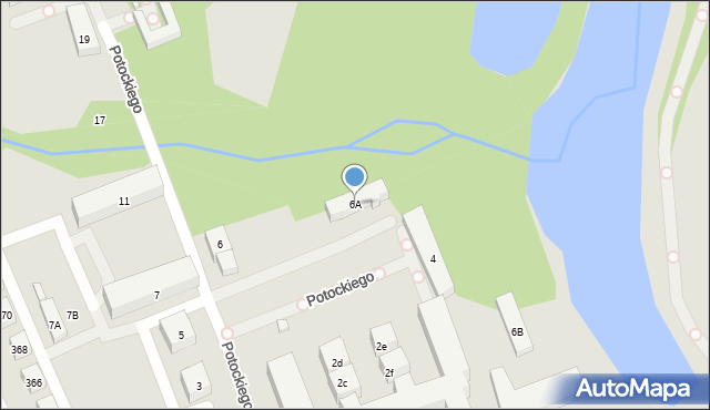 Warszawa, Potockiego Stanisława Kostki, 6A, mapa Warszawy