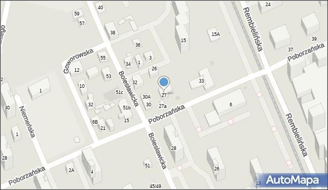 Warszawa, Poborzańska, 27, mapa Warszawy