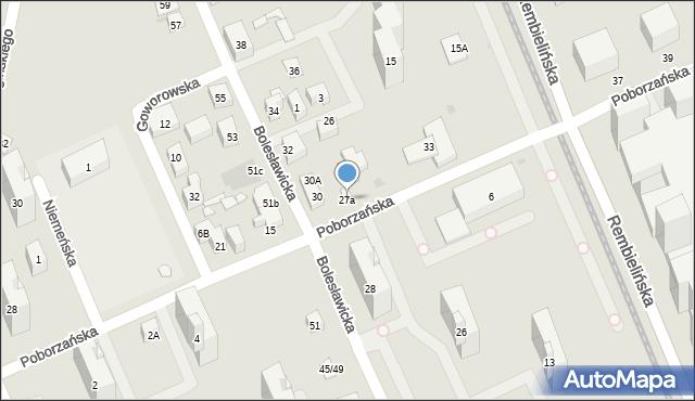 Warszawa, Poborzańska, 27a, mapa Warszawy