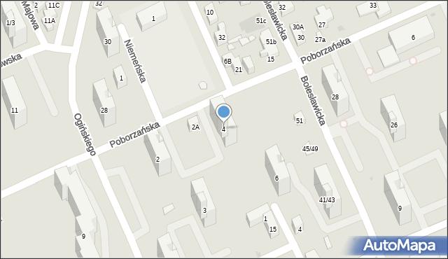 Warszawa, Poborzańska, 4, mapa Warszawy
