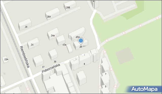 Warszawa, Poborzańska, 45, mapa Warszawy