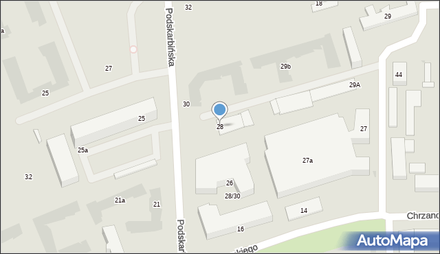Warszawa, Podskarbińska, 28, mapa Warszawy
