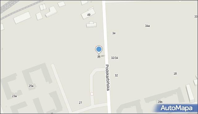 Warszawa, Podskarbińska, 35, mapa Warszawy