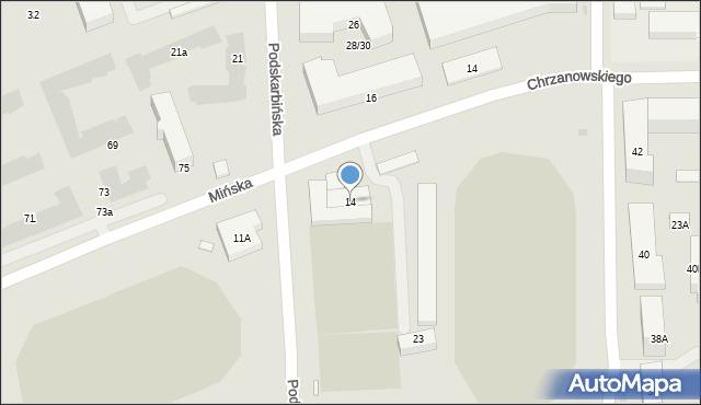 Warszawa, Podskarbińska, 14, mapa Warszawy