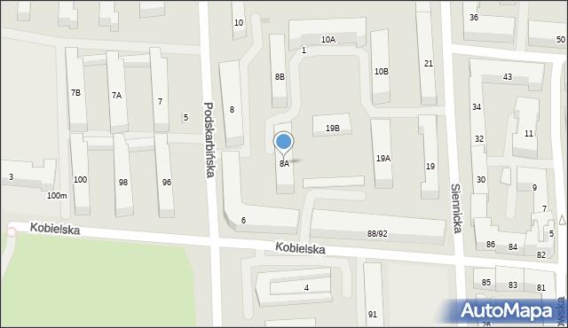 Warszawa, Podskarbińska, 8A, mapa Warszawy