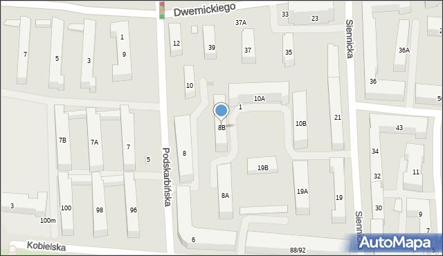 Warszawa, Podskarbińska, 8B, mapa Warszawy