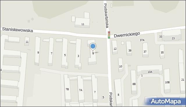 Warszawa, Podskarbińska, 9, mapa Warszawy