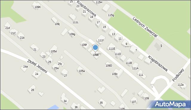 Warszawa, Podkowy, 109E, mapa Warszawy
