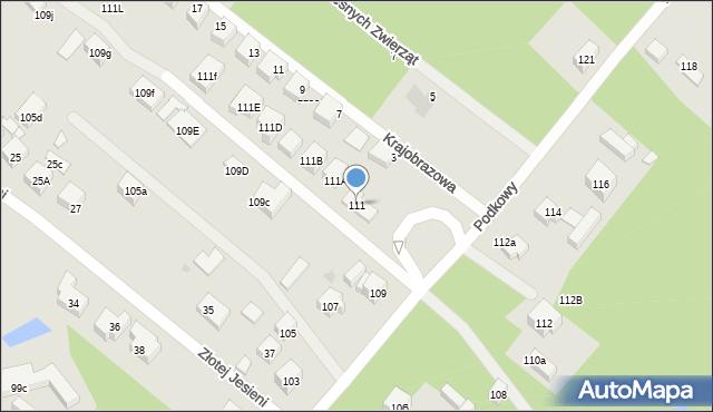 Warszawa, Podkowy, 111, mapa Warszawy