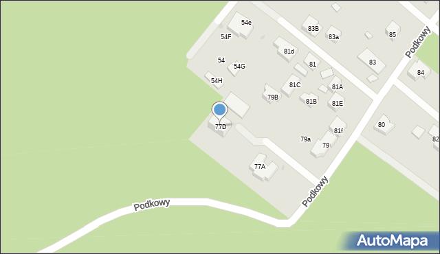 Warszawa, Podkowy, 77D, mapa Warszawy