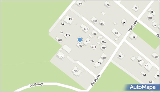 Warszawa, Podkowy, 79B, mapa Warszawy
