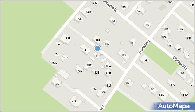 Warszawa, Podkowy, 81, mapa Warszawy