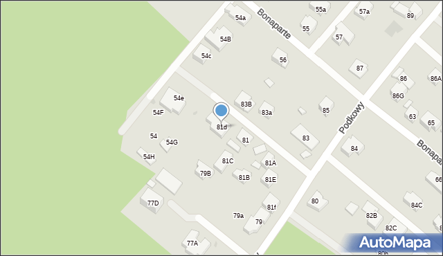 Warszawa, Podkowy, 81d, mapa Warszawy