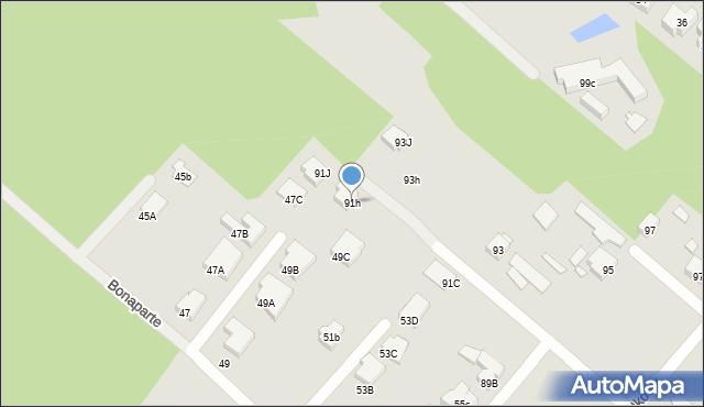 Warszawa, Podkowy, 91h, mapa Warszawy
