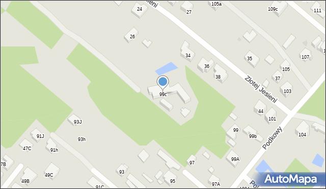 Warszawa, Podkowy, 99c, mapa Warszawy