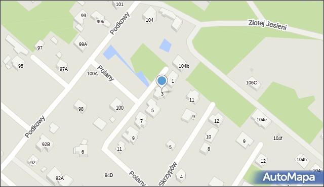 Warszawa, Polany, 3, mapa Warszawy