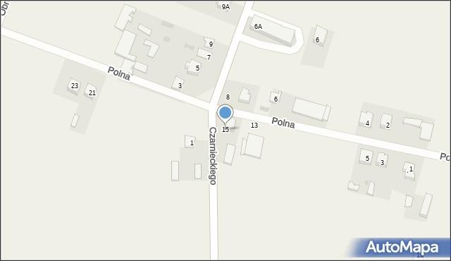 Wizna, Polna, 15, mapa Wizna