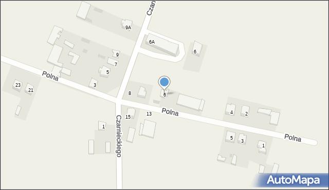 Wizna, Polna, 6, mapa Wizna